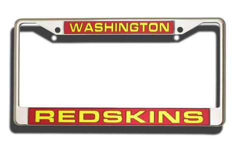 Washington Redskins Premium Laser-cut Acrylic Chrome License Plate Frame