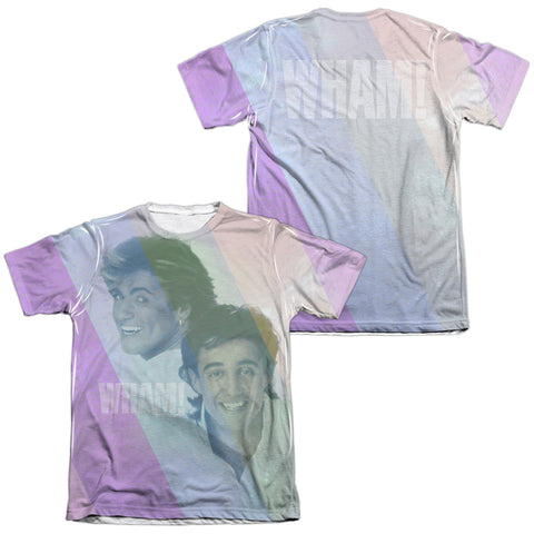 Wham Special Order Pastel Lines (Front/Back Print) Men's Regular Fit 65% Poly 35% Cotton Short-Sleeve T-Shirt