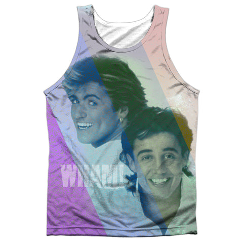 Wham Special Order Pastel Lines Men's Regular Fit 100% Polyester Tank Top