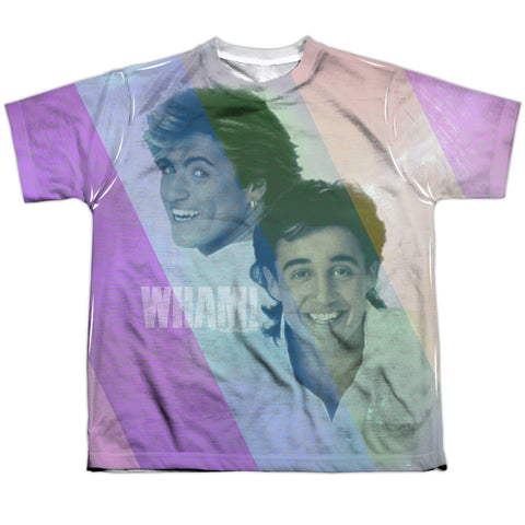 Wham Special Order Pastel Lines Youth Regular Fit 100% Polyester Short-Sleeve T-Shirt