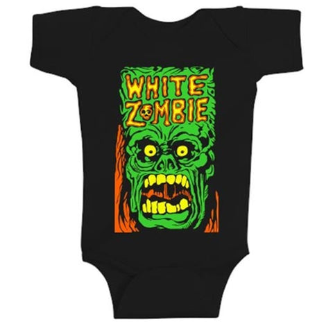 White Zombie Monster Yell One-Piece Bodysuit