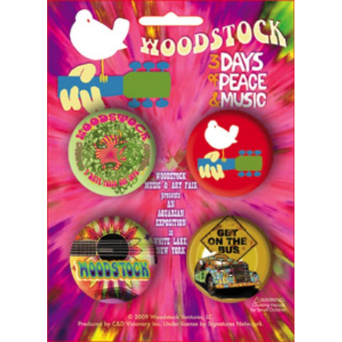 Woodstock 4 Button Set