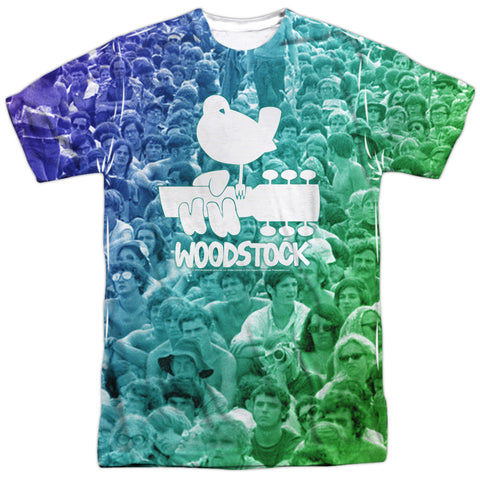 Woodstock 50 Years Crowd Men's Regular Fit Polyester SS T