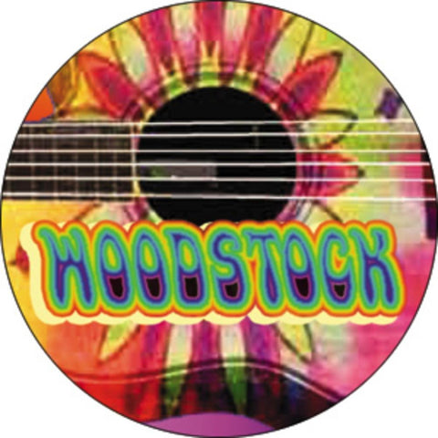 Woodstock Guitar Button
