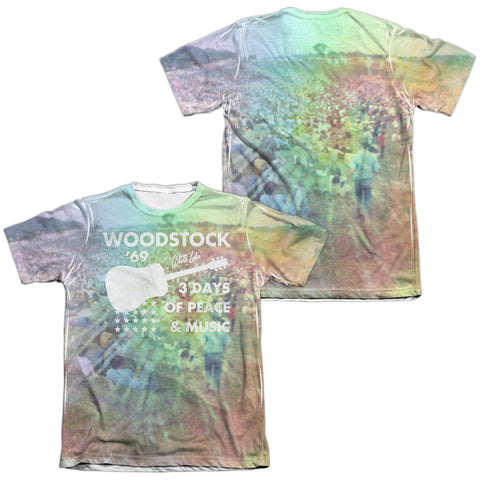 Woodstock Special Order On The Hill (Front/Back Print) Men's Regular Fit 65% Poly 35% Cotton Short-Sleeve T-Shirt