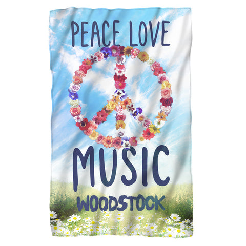 Woodstock Special Order Open Love 100% Polyester Fleece Blanket