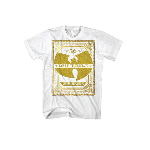 Wu-Tang Clan Gold Chambers Logo Men's T-Shirt