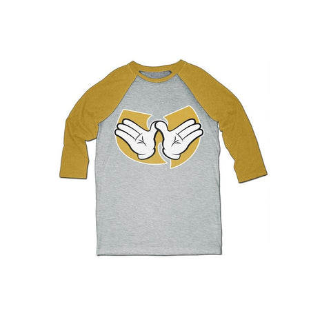 Wu-Tang Clan Hands Men's 3/4 Sleeve Raglan T-Shirt