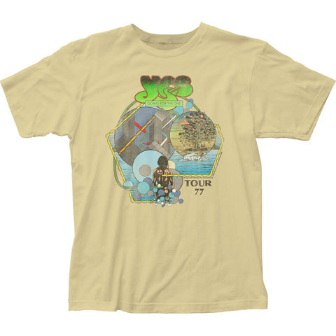 Yes Tour '77 Men's Fitted Jersey T-Shirt