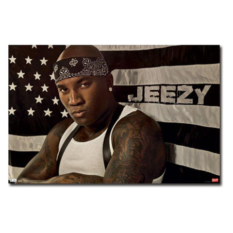 Young Jeezy American Flag Wall Poster