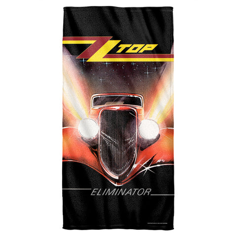 ZZ Top Special Order Eliminator Cover Cotton Front Poly Back Beach Towel
