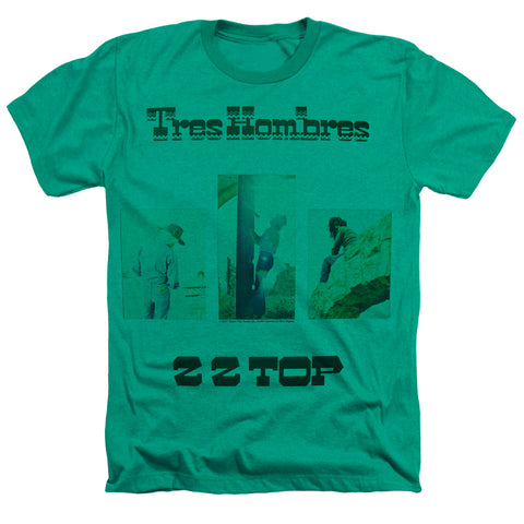 ZZ Top Special Order Los Hombres Men's 30/1 60% Cotton 40% Poly Short-Sleeve Heather T-Shirt