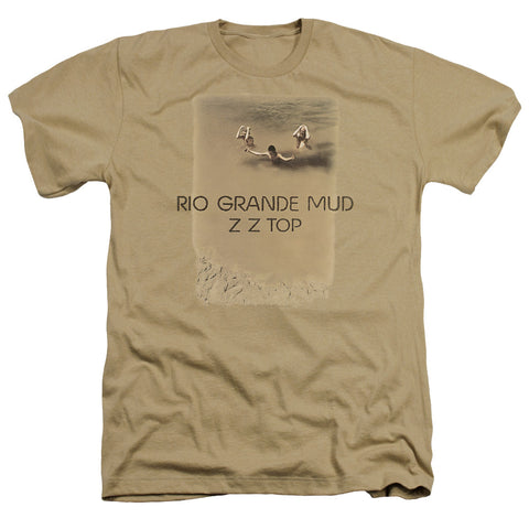 ZZ Top Special Order Rio Grande Mud Men's 30/1 Heather 60% Cotton 40% Poly Short-Sleeve T-Shirt