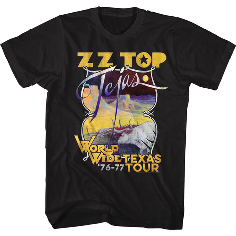 ZZ Top Special Order Tejas Tour Adult Short-Sleeve T-Shirt