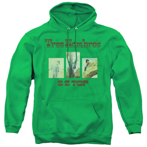 ZZ Top Tres Hombres Kelly Green Men's Pull-Over 75 25 Poly Hoodie