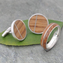 White Gold Bourbon Barrel Wedding Band, Recycled 14K Gold Asi - Naturaleza Organic Jewelry & Wood Rings