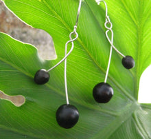 Cruzados Organic Earrings with Patacon Seed and Recycled Sterling Silver - Naturaleza Organic Jewelry & Wood Rings