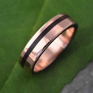 Rose Gold Equinox Nacascolo Wood Ring - Naturaleza Organic Jewelry & Wood Rings