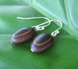 Guanacaste Seed Earrings - Naturaleza Organic Jewelry & Wood Rings