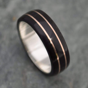 Juntos Coyol Wood Ring with Rose Gold - Naturaleza Organic Jewelry & Wood Rings