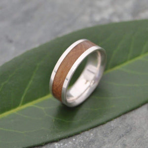 Comfort Lados Bourbon Barrel Wedding Band - Naturaleza Organic Jewelry & Wood Rings