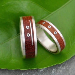 Wood Mayan Numerology Wood Ring - Naturaleza Organic Jewelry & Wood Rings