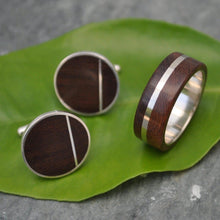 Solsticio Nacascolo Wood Cufflinks - Naturaleza Organic Jewelry & Wood Rings