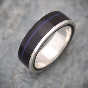 Un Lado Asi Coyol Lapiz Azul Wood Ring - Naturaleza Organic Jewelry & Wood Rings