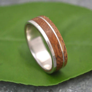 Bourbon Barrel Wood Ring, Whiskey Barrel Ring - Un Lado Asi Wood Ring - Naturaleza Organic Jewelry & Wood Rings