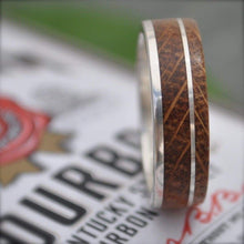 Kentucky Bourbon Barrel Wedding Band, Un Lado Asi Wood Ring - Naturaleza Organic Jewelry & Wood Rings