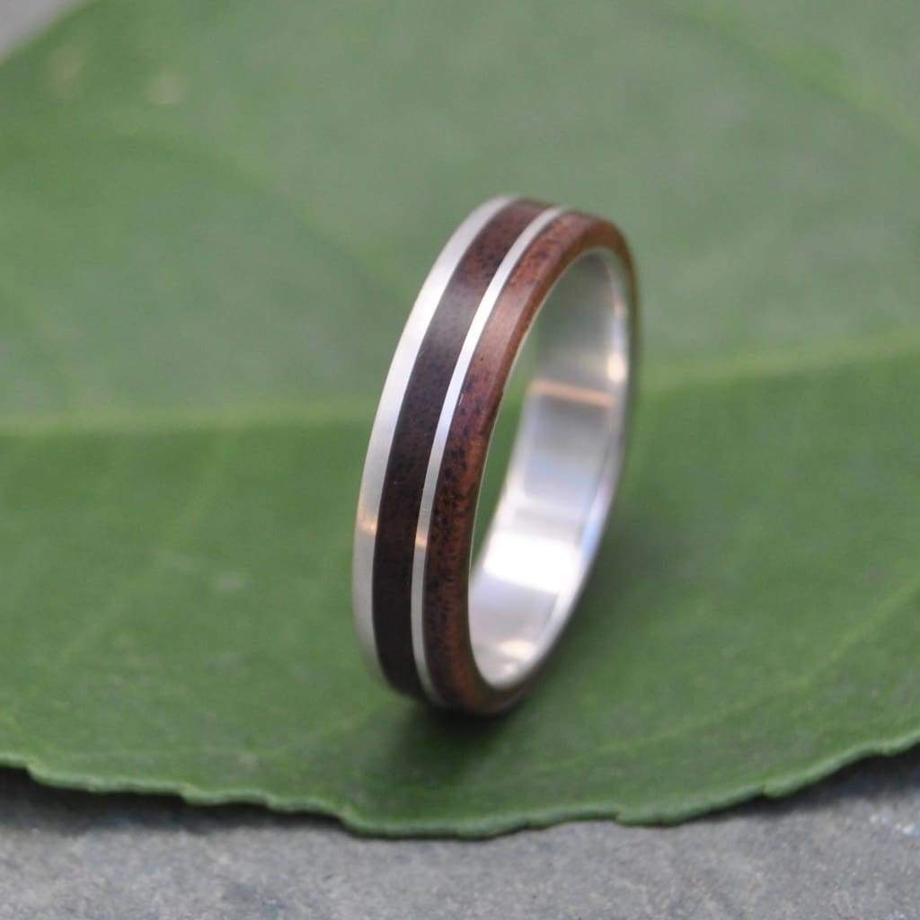 White Gold Un Lado Asi Wood Ring - Naturaleza Organic Jewelry & Wood Rings