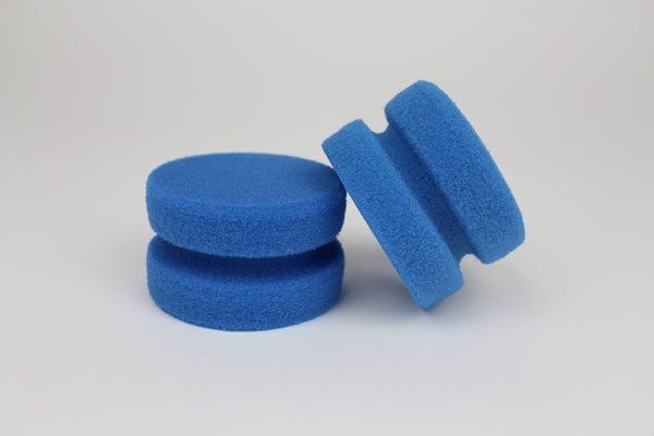 Round Tyre Dressing Applicator Sponge - 2 Pack - HD Car Care