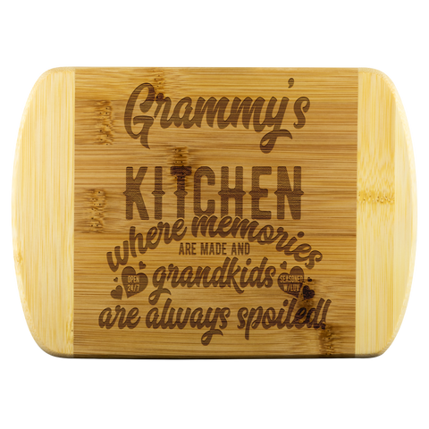 Grammy's Kitchen Where Memories Are Made Bamboo Cutting Board Gift for Grandma