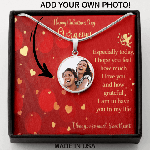 Happy Valentine's Day Gorgeous Necklace I Love You Sweetheart Message Card Keepsake
