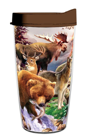 The Great Outdoor Wildlife Wrap 16oz Tumbler