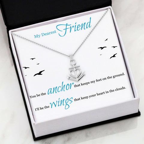 Image of Best Friend My Anchor Luxury Pendant Gift I'll Be The Wings Necklace