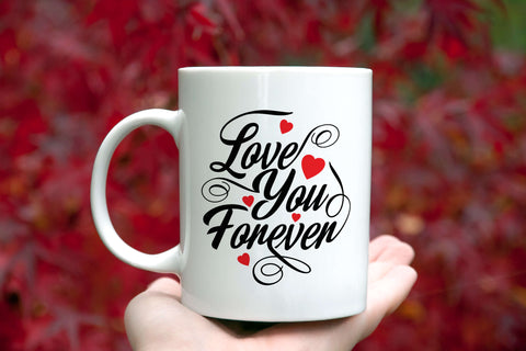 Love You Forever Mug Novelty Birthday Valentine's Day Gift Ceramic Coffee Cup