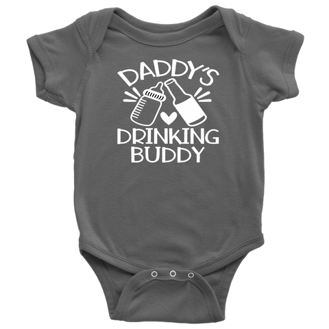 Baby Life Bodysuit Daddy's Drinking Buddy Fun Body Suit for Infants