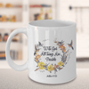 "Christian Faith Gift""With God all things are possible Matthew 19:26"" Bible Verse Mug"