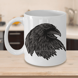 Fun Gift For Raven Lovers,  Raven Mug Available in Black or White, Fun Novelty Coffee Cup