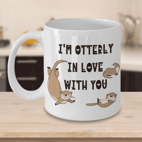 "Image of Surprise Gift for Otter Lovers, ""I'm Otterly in Love With You"" Gift for Wife, Husband"