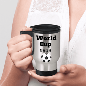 World Cup 2018 Soccer Coffee Travel Mug Novelty Gift Keepsake