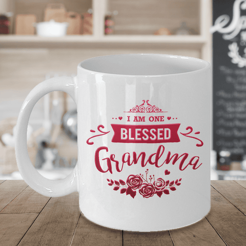 "Image of Gift for Grandma, ""I Am One Blessed Grandma"" Gift for Nan, Nana, Grandma"