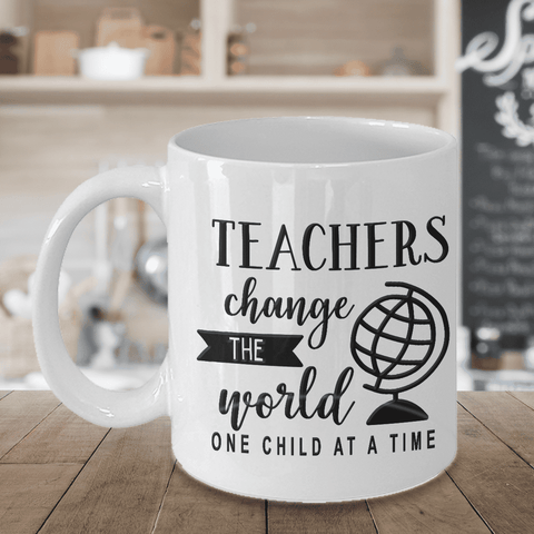 "Image of Teacher Gift, ""Teachers Change The World One Child At A Time"" Gift for Teachers"