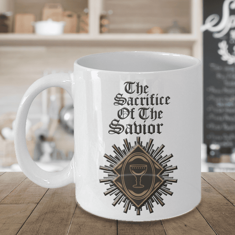 Image of Christian Faith Gifts for Men Women The Sacrifice of the Savior Bible Gifts Coffee Mug