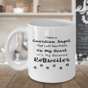 Rottweiler Memorial Gift,  I Have a Guardian Angel... Rottweiler, Pet Remembrance Gift