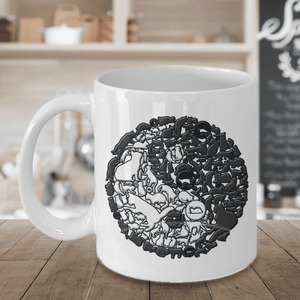 Cat Mug, Yin and Yang Cats, Crazy Cat Lady Gift, Cat Lovers Mug