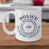 Police Academy Graduate 2018 Psalms 82:3-4 Gifts Graduation Gifts for Him and Her Coffee Mug