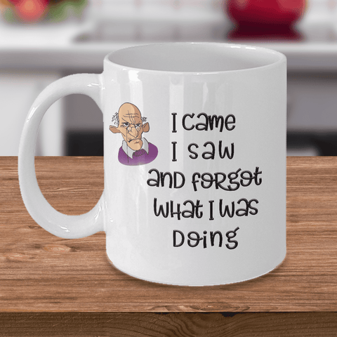 Image of Funny Old Age Mug I Came I Saw I Forgot What I Was Doing Getting Old Coffee Mug Funny Old Man Mug