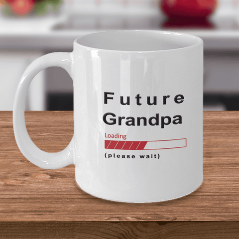 Image of Future Grandpa Loading Please Wait Coffee Mug Gifts for Grandpas to Be Grandpa in Training Cups